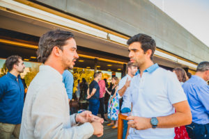 Miguel Pinto, also co-founder of Springkode, talking to Guilherme Guerra, co-founder and CEO of RNTERS at the launch event of Maze X, the pan-european impact startup accelerator based in Lisbon,