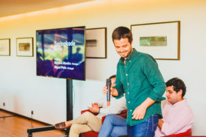 Reinaldo Moreira, co-founder of Springkode, at the launch event of Maze X, the pan-european impact startup accelerator based in Lisbon, in May at the Calouste Gulbenkian Foundation