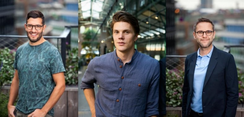 Emanuel Badehi Kullander, Ola Lowden and Tobias Mård, co-founders of Omocom © Mustard Seed MAZE